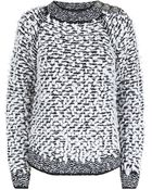 Balmain Alpaca Blend Sweater - Lyst