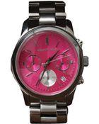Michael Kors Runway Silvertone Watch - Lyst