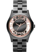 Marc By Marc Jacobs Women'S Henry Gunmetal-Tone Stainless Steel Bracelet 40Mm Mbm3254 - Lyst
