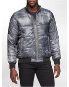 Calvin Klein Jeans Marble Zip Front Puffer Jacket - Lyst