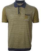 Roberto Collina Striped Polo Shirt - Lyst