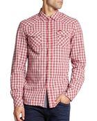 Diesel Cotton Check Sportshirt - Lyst