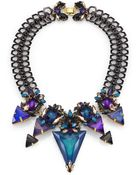 Erickson Beamon Talitha Crystal Bib Necklace - Lyst