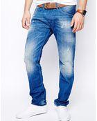 Diesel Jeans Belther 823U Slim Fit Light Wash - Lyst
