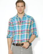 Ralph Lauren Polo Plaid Classic Western Button Down Shirt - Regular Fit - Lyst