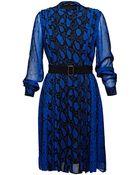 Proenza Schouler Womens Long Sleeved Printed Chiffon Dress - Lyst