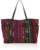 Topshop Tapestry Poppins Tote Bag - Lyst
