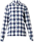 Baja East Checked Cotton-Flannel Shirt - Lyst