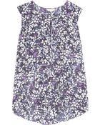 Rebecca Taylor Sleeveless Print Top - Lyst