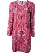 Emilio Pucci Geometric Print Dress - Lyst