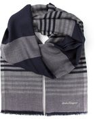 Ferragamo Striped Scarf - Lyst