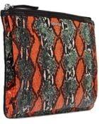 McQ by Alexander McQueen Elaphe & Leather Mix Pochette - Lyst