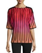 M Missoni Knit Vertical-striped Top - Lyst