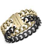 Michael Kors Twotone Curb Chain Bracelet - Lyst