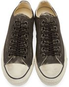 Converse X John Varvatos Black Painted Overlaced Chuck Taylor Sneakers - Lyst