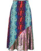 House of Holland Surf Skirt Blue Snake - Lyst