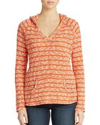 Sanctuary Mixed Stripe Hooded Pullover - Lyst