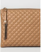 Pull&Bear Quilted Clutch - Lyst