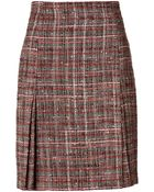 Akris Wool Boucle Tweed Skirt - Lyst