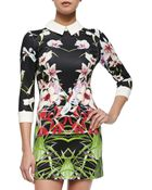 Ted Baker Mirrored Tropics Dress With Three-Quarter Sleeves - Lyst