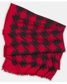 Coach Large Houndstooth Cashmere Shawl - Lyst