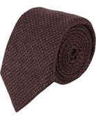 Barneys New York Textured Woven Neck Tie - Lyst