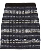 Proenza Schouler Suede-Trimmed Tweed Mini Skirt - Lyst