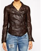 Muubaa Monteria Leather Biker Jacket - Lyst