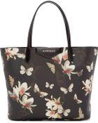 Givenchy Black Magnolia And Moth Small Antigona Shopper - Lyst
