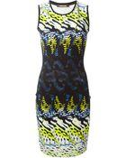 Roberto Cavalli Animal Print Fitted Dress - Lyst