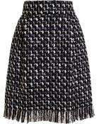 Lanvin Tweed Pencil Skirt - Lyst