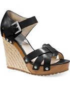 Michael Kors Michael Somerly Platform Wedge Sandals - Lyst