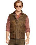 Ralph Lauren Leather-Trim Oilcloth Vest - Lyst