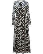 MICHAEL Michael Kors Animal-Print Belted Dress - Lyst