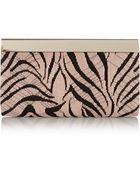 Jimmy Choo Cayla Embroidered Suede Clutch - Lyst