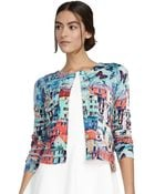 Alice + Olivia Butterfly Paradise Printed Cardigan - Lyst
