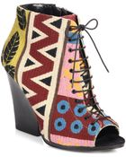 Burberry Prorsum Virginia Tapestry Lace-Up Ankle Boots - Lyst