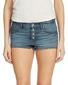 Free People Mid-Rise Cutoff Denim Shorts - Lyst