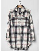 Gap Large Plaid Popover Shirt - Lyst