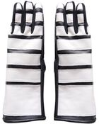 KTZ Stripes Eco-Leather Two Tone Gloves - Lyst