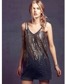 Free People Embellished V Shift Dress - Lyst