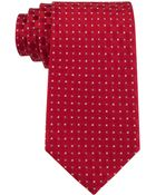 Tommy Hilfiger Deep Red Micro Neats Tie - Lyst