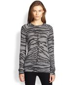 Equipment Sloane Tiger-Print Sweater - Lyst