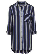 Topshop Stripe Oversized Shirt - Lyst