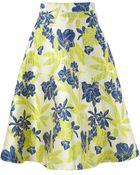 P.A.R.O.S.H. Floral Jacquard A-Line Skirt - Lyst