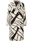 Bottega Veneta Printed Wool-Crepe Coat - Lyst