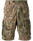 The Editor Camouflage Shorts - Lyst