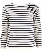 Marc By Marc Jacobs Jacquelyn Stripe Boatneck Frog Top - Lyst