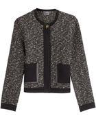 Ferragamo Wool-Cotton Stretch Cardigan - Lyst