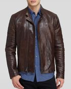 John Varvatos Collection Quilted Leather Biker Jacket - Lyst